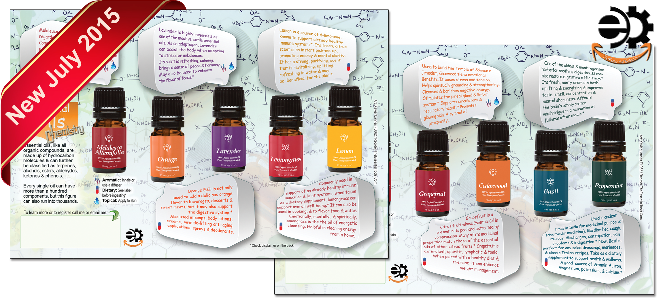 the essential tools essential oils flyers & marketing material, Invoice templates