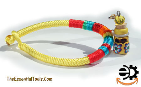 Bracelet with aromatherapy vial. Click on the image to see a bigger picture.