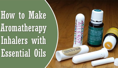 How to make aromatherapy inhalers with essential oils