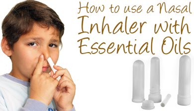 nasal inhalers for essential oils