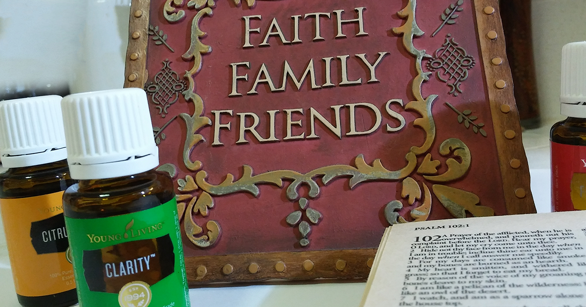 faith fanily friends bible and essential oils