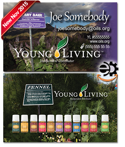 Young Living Essential Oils Business Card BC001