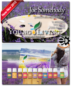 Young Living Essential Oils Business card BC002