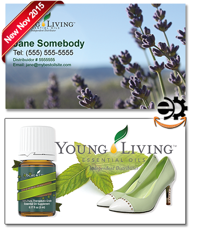 Young Living Essential Oils Business Card