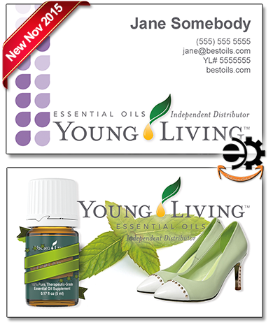 Young Living Business Cards, Marketing material