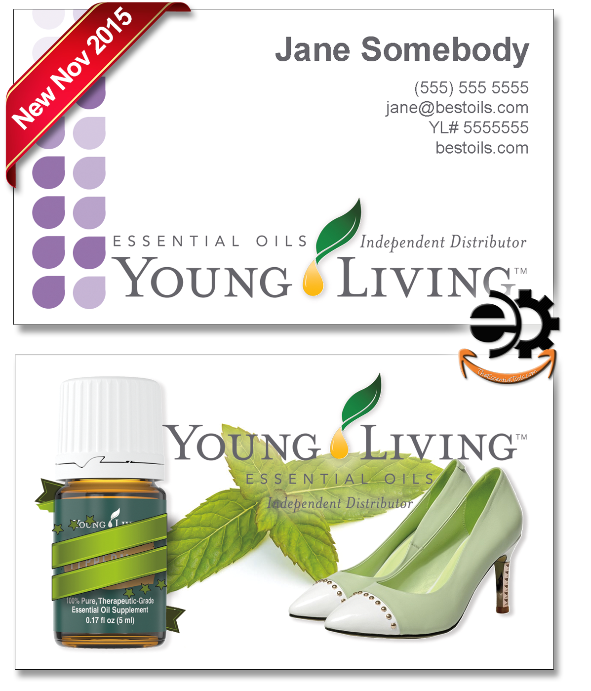 The Essential Tools Young Living Essential Oils Business Cards