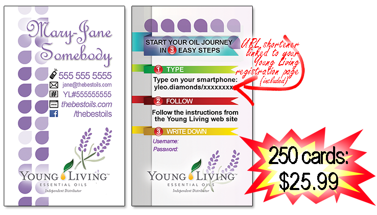 Yl essential oils business cards and url link shortener the yl business card ever colourmoves