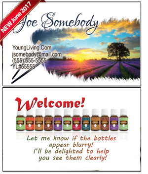 Young Living Essential Oils Business Card BC018