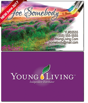 Young Living Essential Oils Business Card BC019