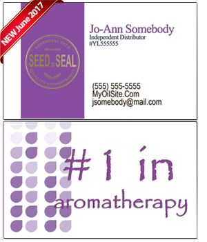 Young Living Essential Oils Business Card BC020