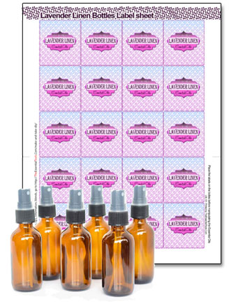 This sheet of 20 labels will help you with your DIY project
