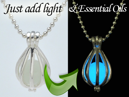 The essential tools glow in dark locket hollow cage essential drop jewelry aromatherapy aroma jewelry essential oils silver necklace pendant aloadofball Gallery