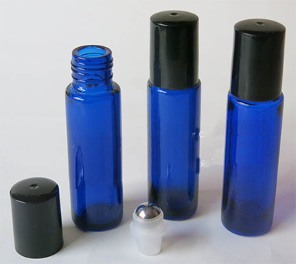 10ml Essential Oil Cobalt Blue Roll-On Bottle