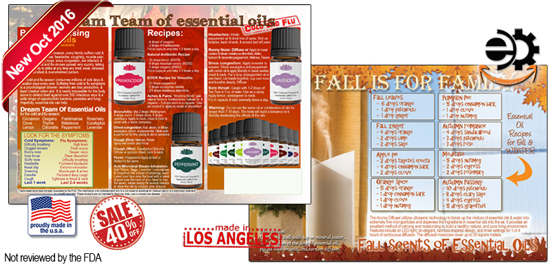 Essential Oils Flyer for Emotions