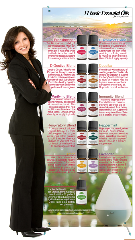 Essential Oils Flyer for cold and flu
