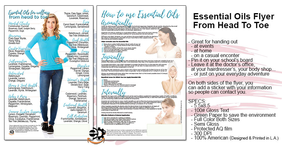 Head To Toe Essential Oils Flyer