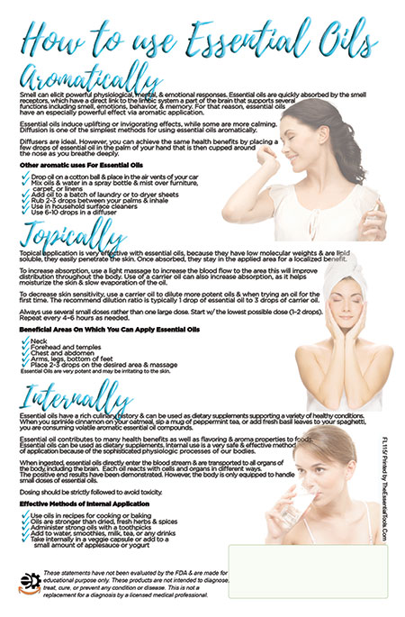 Image of Head To Toe Essential Oils Flyer back side