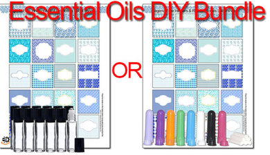 essential oils DIY blends labels rollerballs inhalers