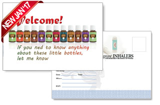 essential oils welcome to my team postcard