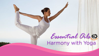 Essential Oil and Yoga in harmony
