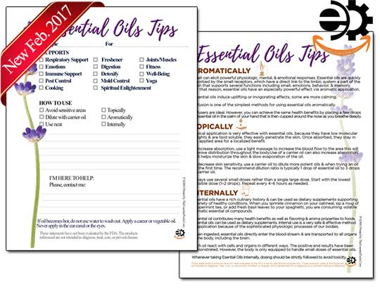 Essential Oils Tips Tear Pad