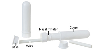 nasal inhalers for aromatherapy and essential oils
