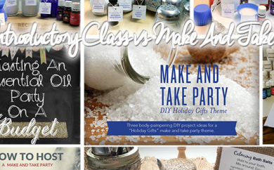essential oils introductory class vs Make And take