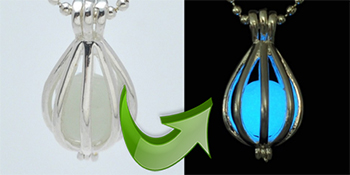 Glow in the dark essential oil pendant