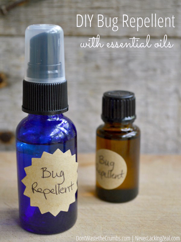 Tiffany has an awesome blog and has experimented essential oils to do a bug repellent. Of course, it also works on mosquitoes...