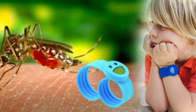silicon bracelet with essential oils to repel mosquitoes