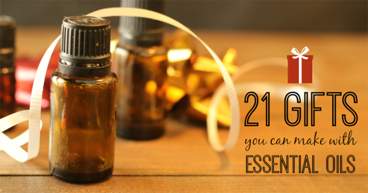 21 homemade gifys you can make woth essential oils.