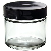 Clear Thick Glass Straight Sided Jar for essential oils