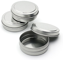 Empty Slip Slide Round Tin Containers for Lip Balm, Crafts, Cosmetic, Candles, Storage Kit