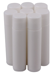 White Empty Lip Balm Tubes Containers