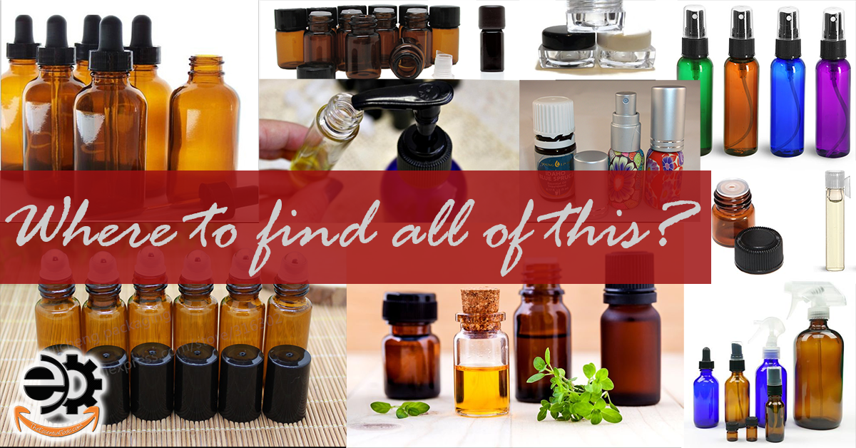 where to find essential oils containers and bottles