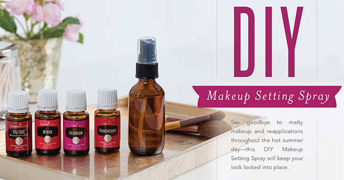 DIY Makeup Spray With Young Living Essential Oils