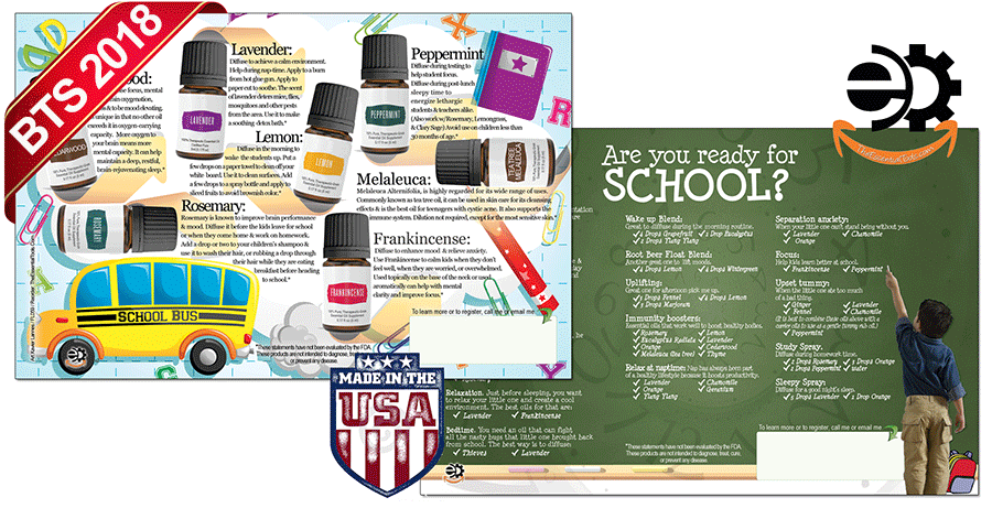 back To School Essential Oils Flyer