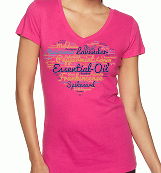 TS013 Essential Oils Heart Shaped T-Shirt. Click on the image to see the details.