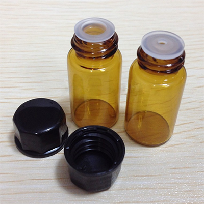 Amber Glass Bottles with Orifice Reducer Cap for Essential Oils