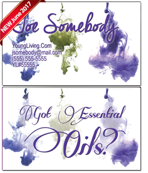 Young Living Essential Oils Business Card BC016