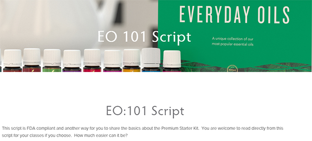 Proven Scripts To Start A 101 Essential Oils Class