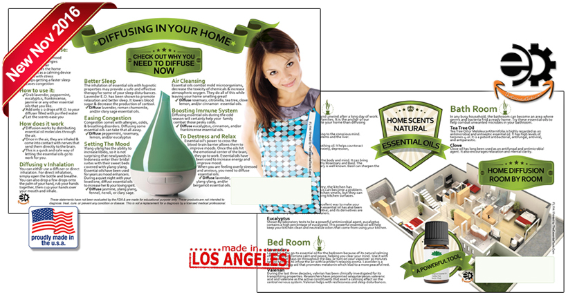 Essential Oils Flyer for home scents and diffusers