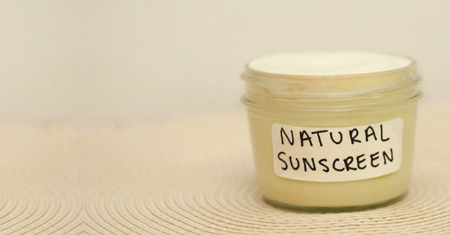 natural sunscreen with essential oils
