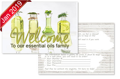 welcome to the essential oils team postcard