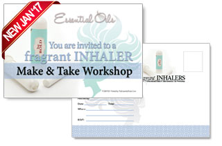 essential oils thank you postcard make and take invitation