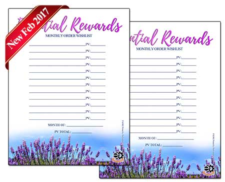 Essential Oils Essential Rewards Tracking System
