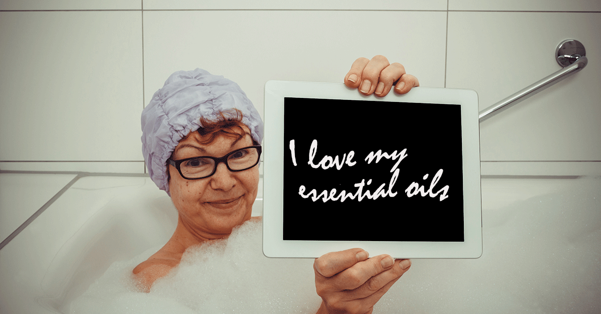 essential oils for bath time