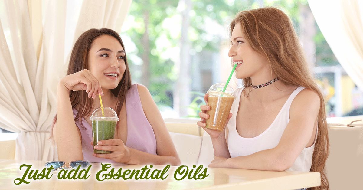 green juices and smoothies with essential oils