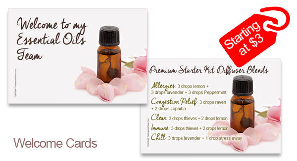 Digital & Downloadable Essential Oils welcome cards starting at $3